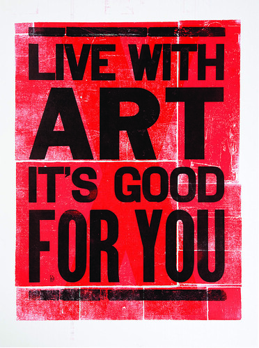 Live With Art Poster
