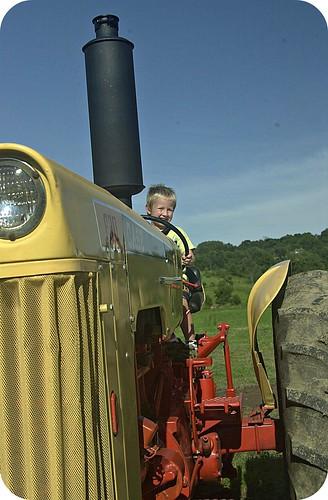 fischer on tractor