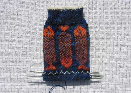 Piscean Sock in progress