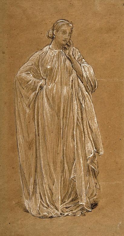 Moore, Albert Joseph (1841-1893) - 1867c. Draped Model (Metropolitan Museum of Art, New York City)