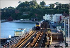 Dawlish from the station. (Thrash Merchant) Tags: railroad train canon seaside diesel rail trains seawall devon railways firstgreatwestern mtu hst dawlish highspeedtrain class43 intercity125 firstgroup ic125 fgw eos450d powercar kennawaytunnel crosscountrytrains firsttrains dawlishseawall firstgreatwesternhst fgwhst