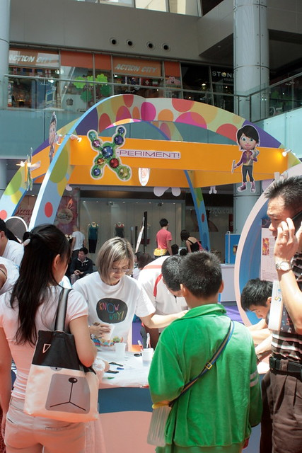 Festive science carnival at Marina Square central atrium