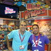 Bill Schultz and Jeremy Larner at Mattel's booth