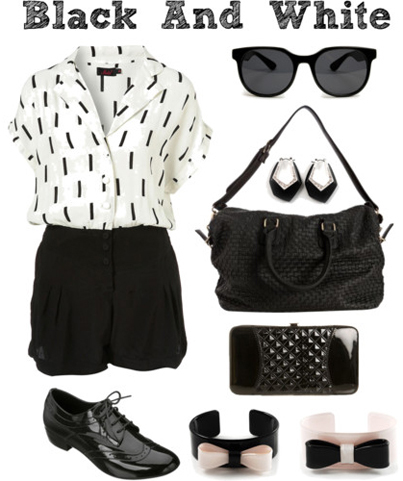 Polyvore: Black And White