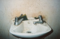 grotty (Adele M. Reed) Tags: london film 35mm bathroom sink kodak 200 mould peckham grot nikonl35af