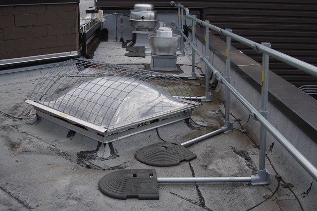 Keeguard Roof Railing Install In Pa Fall Protection Blog