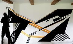 (MeerSAUzburg) Tags: streetart salzburg art silhouette graffiti austria design österreich stencil graphic tape schablone meersau lumpenpack