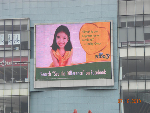 Nido 3+ Proud to see the difference billboard, EDSA digital billboard, Nido