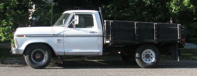 white classic ford truck pickup 1973 americanmade flatbed f250 worktruck camperspecial 34ton