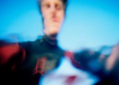 Liquid Self (malpractice) Tags: ocean uk blue sea portrait england color colour film water self 35mm canon cornwall surf underwater kodak surfer surfing iso negative a1 s1 asa prima portra compact waterproof sureshot c41 160nc wp1