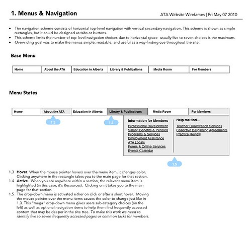 Menus & Navigation