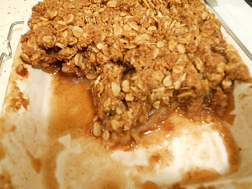 Freshly Baked Apple Crumble
