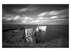 Old Harry Rocks. (Chrisconphoto) Tags: longexposure blackandwhite bw movement filter dorset studland jurassiccoast weldingglass oldharryrocks