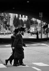 Crosswalk... (CitroenAZU) Tags: street people white man black men walking beard belgium candid clothes zebra jew antwerp crosswalk orthodox speedcamera anvers homme streetshot straat zebrapad voetgangers gatso juif jood traditionel oversteekplaats