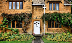 Broadway Door 1 (cass39) Tags: uk flowers vacation england house holiday garden europe tour cottage broadway visit cotswolds