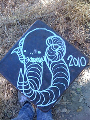 SWAMPDONKEY (rustysideshow) Tags: white black pen skull graffiti bay little 10 d tag yo donkey horns east dirt trail yosemite swamp tusks 2010 swampy swampdonkey