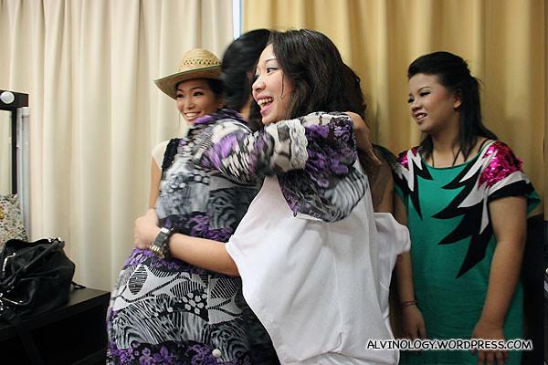 Farewell hugs