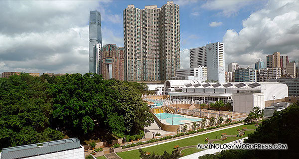 This greeted me in the morning - priceless view of Kowloon Park from my hotel room