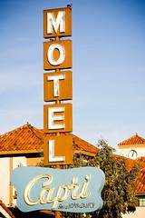 Motel Capri (Thomas Hawk) Tags: neon motel santaclara elcaminoreal southbay cailfornia caprimotel