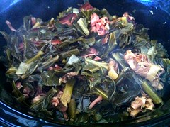 Slow-Cooker Collard Greens not at all like Mom...