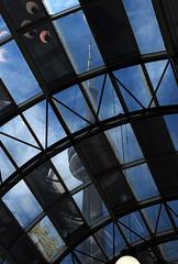 Future Myth (sniderscion) Tags: blue roof light sky urban toronto ontario canada tower window glass cn dark scott nikon cntower geometry skybridge canadian ceiling tamron overhead f28 snider rectangles fragments d80 1750mm tamronspaf1750mmf28 flickrgolfclub sniderscion clanflickr