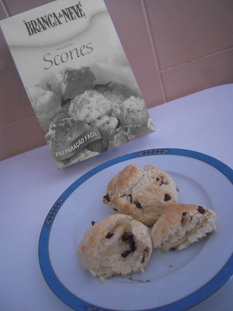 Scones com Chocolate
