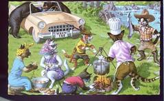 Alfred Mainzer Animated Cats Picnic Fishing & Bears (loveinterestingcards) Tags: dog chien greyhound chihuahua beagle goldenretriever cat bostonterrier collie chat labrador dolphin retriever dachshund pitbull terrier american poodle vintagepostcard boxer doberman germanshepherd cockerspaniel dalmatian cockapoo pinscher americanbulldog