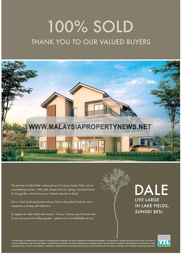 Dale, Grove, Lake Fields, Sungai Besi, 3-storey Homes, Semi-D, YTL