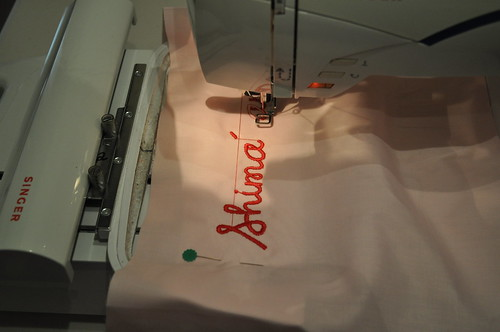 Pillowcase embroidery