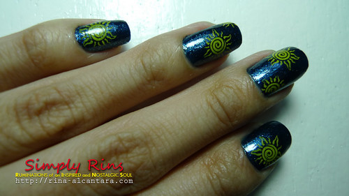 Nail Art Midnight Sun 01