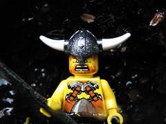 A Viking (s.kosoris) Tags: macro canon lego minifig viking minifigure sleepinggiant sibley s3is canonpowershots3is sleepinggiantprovincialpark middlebrunbay joecreek joecreeknaturetrail skosoris