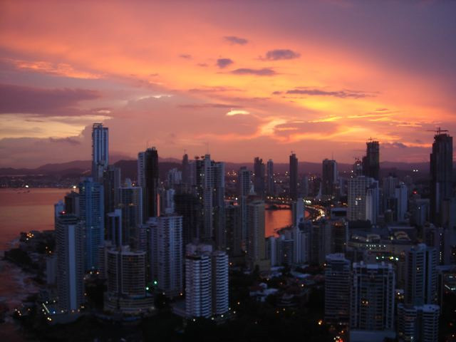 Sunset over Panama City, Panama