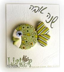 To all my Friends (Liat R) Tags: fish art cane colorful handmade humor craft magnets retro polymerclay fimo creation clay canes cookiecutter magnet polymer millefiori   millifiori