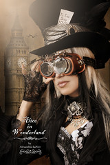 The Mad Hatter ~ Beyond Wonderland (Alexandria LaNier) Tags: city girl beautiful fashion hair costume punk gothic emo victorian bigben scene aliceinwonderland steampunk themadhatter alexandrialanier