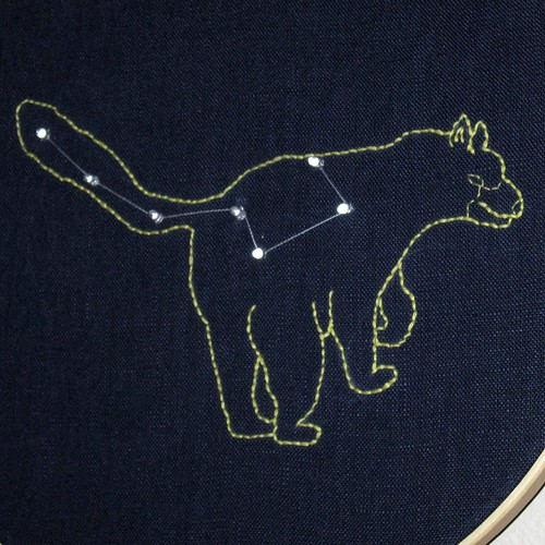 Detail of Ursa Minor embroidery by Shannon Henry, on Flickr