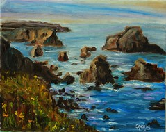 Mendocino Coast - Oil Painting