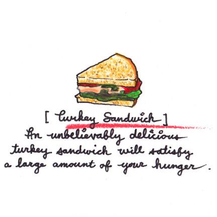 [Turkey Sandwich]