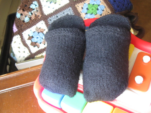 Felted Baby Slippers