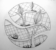 Getaway (Jo in NZ) Tags: pen ink drawing line zentangle nzjo