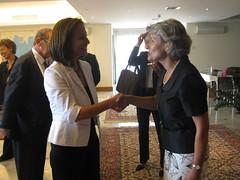 Συνάντηση της Υπουργού Παιδείας με τη Γενική Διευθύντρια της UNESCO