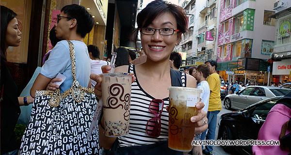 Gong Cha in Hong Kong - bigger, better