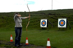 Sis - before I won at archery