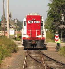Soo Line 700 on tourist train (kitmasterbloke) Tags: usa museum train locomotive mn lakesuperior touristrailroad