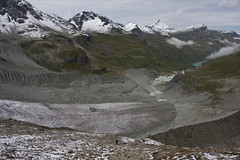 Glacier de Moiry and Lac de Moiry Photo