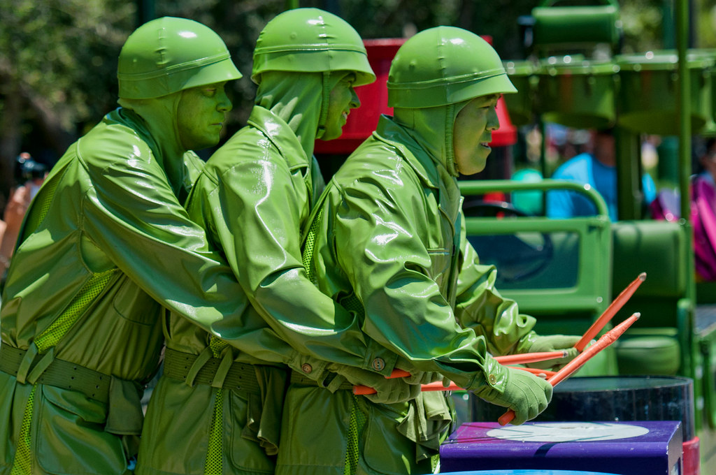 Green Army Men Drum Corp