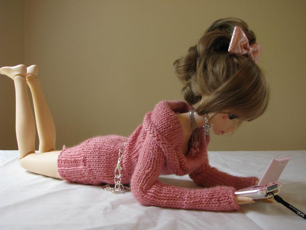 pink sweaterdress