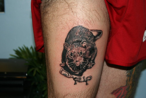 Hood Rat Tattoo by Wes Fortier