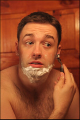 Jason Manford (qazq1256) Tags: shirtless hairy jason shaving shave manford