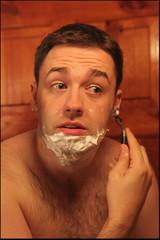 Jason Manford (qazq1256) Tags: shirtless hairy jason shaving shave manford