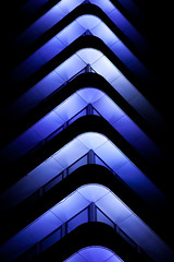 (bitzi  ion-bogdan dumitrescu) Tags: blue light lebanon building architecture night dark office beirut bitzi ibdp bankmed mg6356 gettyvacation2010 ibdpro wwwibdpro ionbogdandumitrescuphotography
